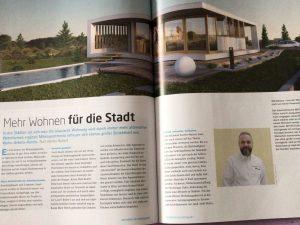 Artikel ueber McCube Modulhäuser Architektur im Mittelpunkt 2017/2018
