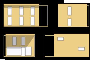 Modulhaus Hoch2 Ansichten zweistöckig