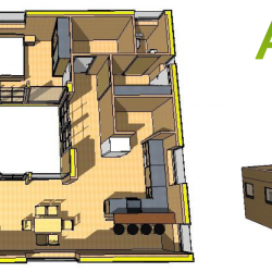 Grundriss McCube Modell Atrium