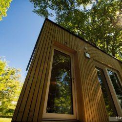 Modulhaus McCube Holzfassade